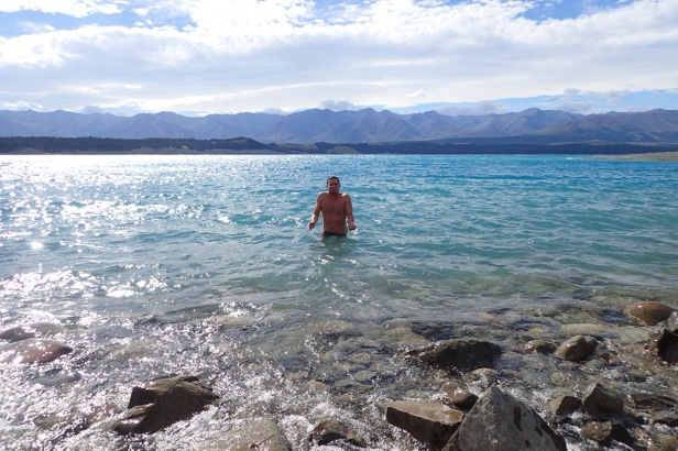Pukaki Lake Shower